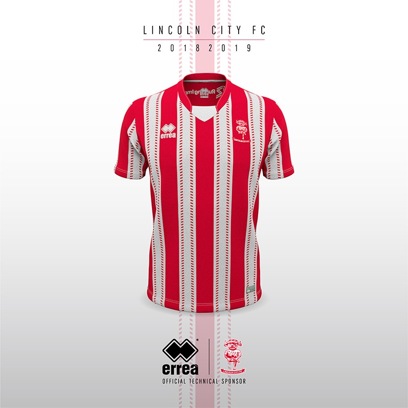 Il Lincoln City Football Club presenta la nuova divisa home 2018-2019 by Erreà Sport!