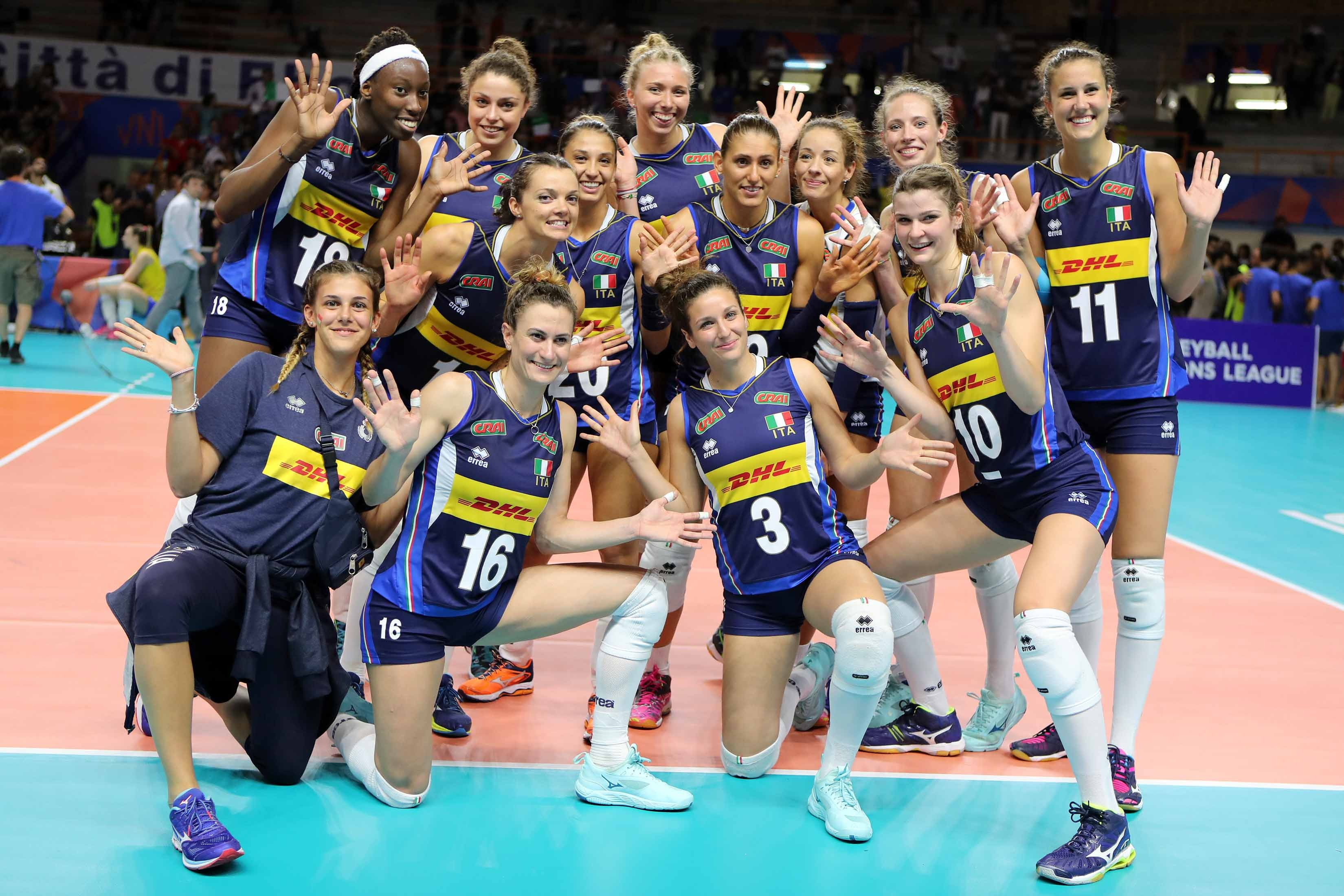 Volleyball Nations League femminile: al Palasele l'Italia batte il Brasile
