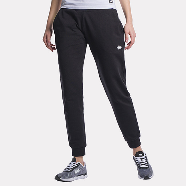 ESSENTIAL SS21 WOMAN MURALES TROUSERS AD NERO-1 - REPUBLIC