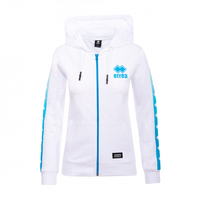 SPORT INSPIRED SS20 WOMAN PRINT ST.HOODY ZIP 124 AD BIANCO - REPUBLIC
