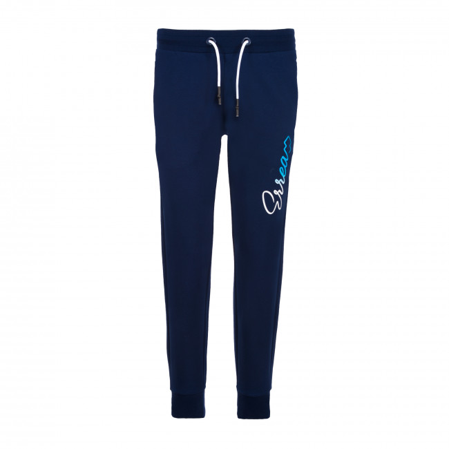 ESSENTIAL SS20 WOMAN NEW LOGO PANT 112 AD BLU - REPUBLIC