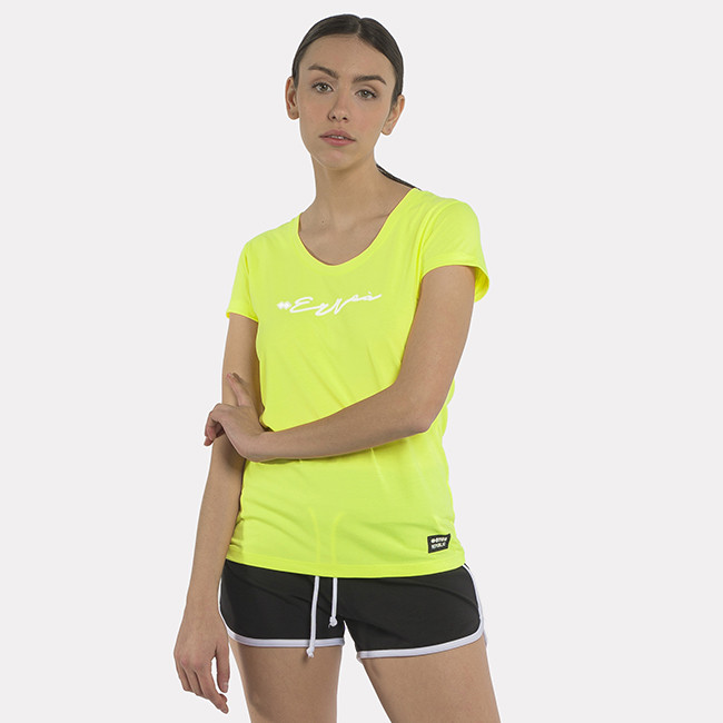 T-SHIRT ESSENTIAL SS21 WOMAN 002 MC AD SAFETY_YELLOW-2 - REPUBLIC